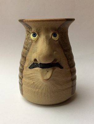 Muggins Mug With Moustache, Art Pottery,  September 1980 Excellent Conditon,