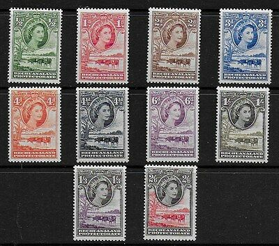 Bechuanaland 1955 QEII Definitives - SS to 2/6d  -  MH