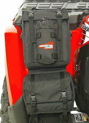 American Trails ATV Fender Bag Black Four Wheeler Luggage Pack Front Rear Rack