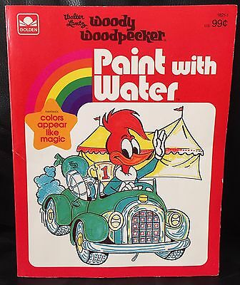 Woody Woodpecker Vintage Paint With Water Book 1981 New