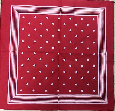 Red Polka Dot Bandana Headscarf Neckerchief