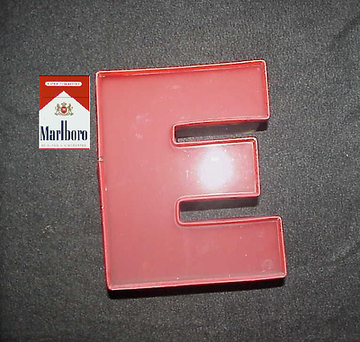 Vintage Red Neon Sign Letter E (Metal 10 x 9 x 5) Reduced