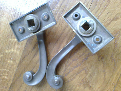 Solid brass window catches antique retro period
