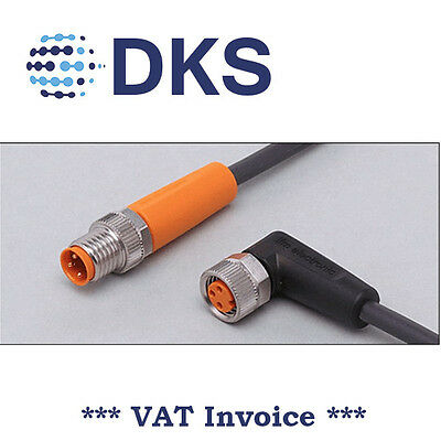 IFM  EVC285 M8 Straight/Angled 3 Pin 1m PUR Sensor Extension Cable DC pnp 000293