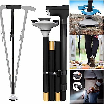 Walk Confidently Adjustable Foldable Walking Cane  LED Light on Sticks
