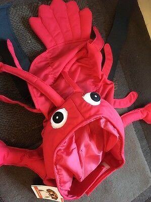 Dog Size Large Lobster Costume Brand New