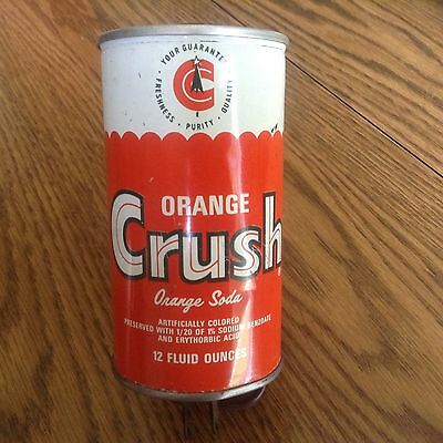 Vintage Orange Crush Straight Steel Soda Can Lamp **COLLECTORS** Must Have!!!!!