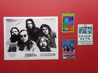 STEELY DAN,promo photo,3 Backstage passes,Various Tour.RARE ORIGINALS