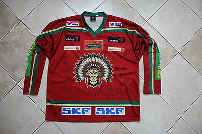 Frolunda Indians Sweden 2000's Ice Hockey Signed Shirt Jersey Size 7 (Large) (60