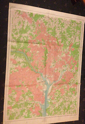 Large Washington D.c. & Vicinity Geological Survey Map
