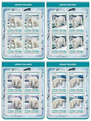 Z08 IMPERF ST17211c Sao Tome and Principe 2017 Polar bears MNH ** Postfrisch