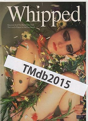 ☆☆ RARE SIOUXSIE AND THE BANSHEES WHIPPED  Original MAGAZINE A4 Poster ☆☆ 005