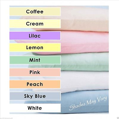 Cot & Cot Bed Plain Dye Bedding Fitted / Flat Sheet Duvet Cover Pillow Case Past