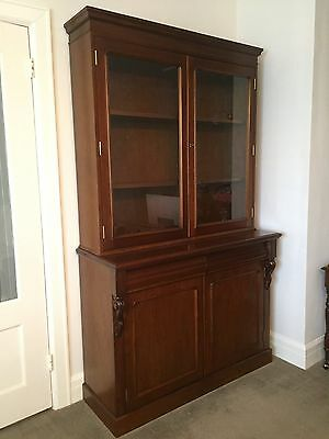 ANTIQUE Victorian Style Bookcase / Display Cabinet