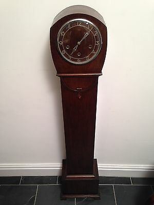 Vintage Smiths Enfield Art Deco Grandmother Clock - 1.3m Tall Approx