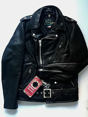 NWT Schott Bros. Rolling Stones Blue & Lonesome  Leather Jacket Sz. S Rare