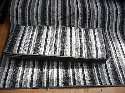 12x STAIR PADS / TREADS GREY STRIPE plus matching runner BN CHEAP #3161