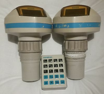 2X Siemens Ultrasonic Level Probe 7ML5221-1BB11 with Programming Remote