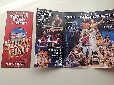 2 x Flyer SHOWBOAT The Musical New London Theatre  2016
