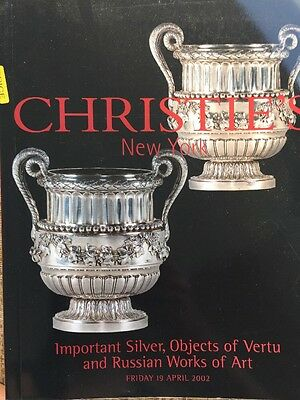 Christie's Auction Catalog: Silver, Objects Of Vertu And Russian Art/ 2002