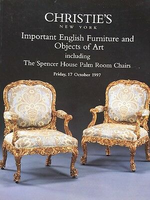 Christie's Auction Catalog: English Furniture And Objects Of Art / 1997