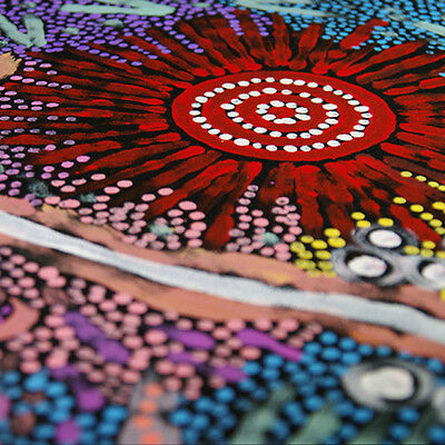 "ABORIGINAL ART PAINTING by MICHELLE POSSUM NUNGURRAYI ""GRANDMOTHER'S COUNTRY"""