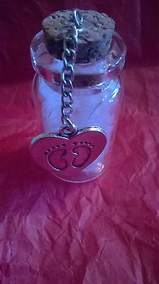Angels feathers with little feet charm - Rememberance/Miscarriage/ Baby Loss