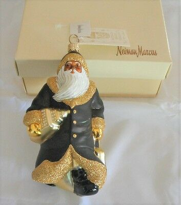 Patricia Breen City Santa Black Gold Empire State Building Mint Nieman Marcus