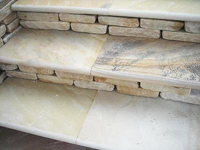 """Natural Sandstone Bullnose Coping Stone / Steps / Wall Caping 600x400mm (24""""x16"""""""