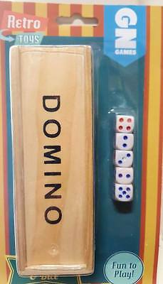 1x RETRO TOYS DOMINOES AND DICE