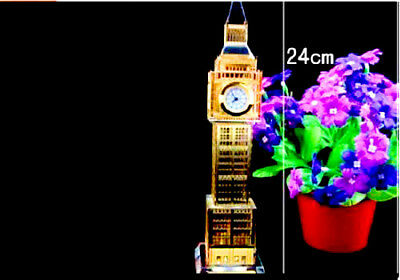 London Big Ben Clock Tower Colour Changing Lights Souvenirs British Perfect Gift