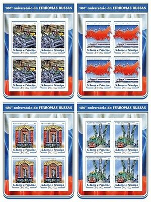 Z08 IMPERF ST17212c Sao Tome and Principe 2017 First Russian Railway MNH Post