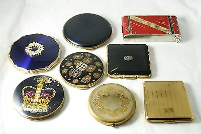 Vtg Powder Compacts for Parts or Repair Stratton Wadsworth LinBren CamPack As Is