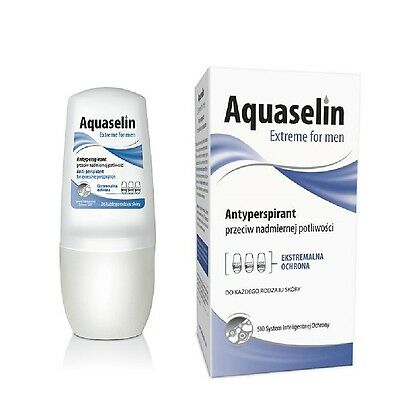 AA Anti Perspirant Aquaselin Extreme for Men Excessive Perspiration Roll On 50ml