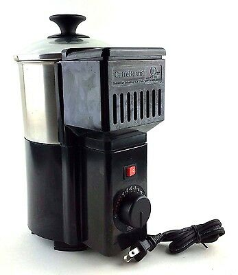 Caffé Rosto Model CR 120 Home Coffee Roaster Discontinued - Black and Silver