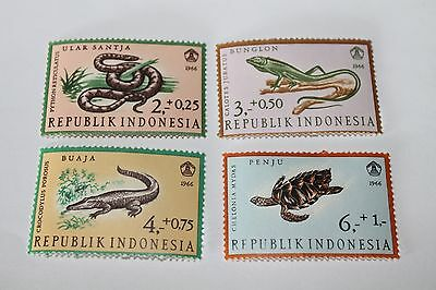 1966 Reptiles, Indonesian Stamps