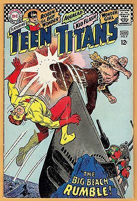 TEEN TITANS #9 DC Comics 1967 VF-  Robin Kid Flash Wonder Girl Aqualad