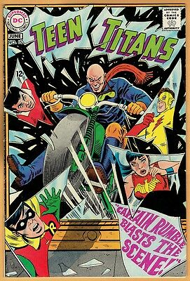 TEEN TITANS #15 DC Comics 1968 VF  Robin Kid Flash Wonder Girl Aqualad