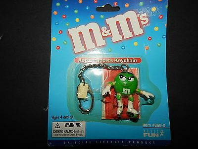 M&M's Action Sport Key Chain Green Roller Blader 2000
