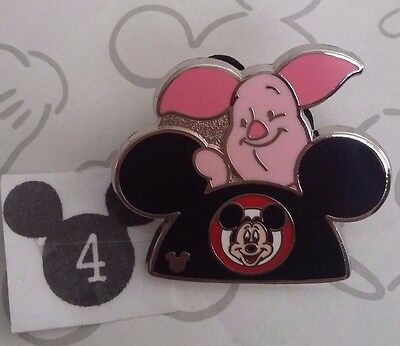 Piglet Earhat 2015 Hidden Mickey Mouse Ear Hat WDW Disney Pin Buy 2 Save $