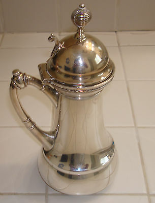 Antique Syrup Pitcher Meriden B Co Pat. July 1 1873  Silverplate