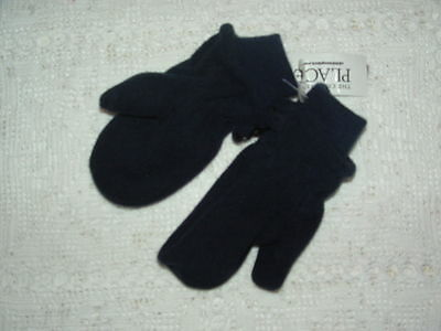 The Children's Place Boys Navy Blue Fleece Mittens Size M 12-24 months new NWT