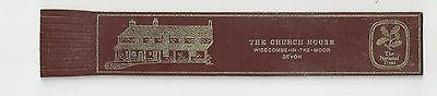 The Church House, Widecombe-in-the-Moor Devon. Burgundy Leather English Bookmark