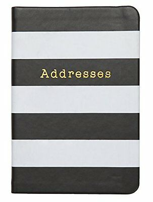 C.R. Gibson Small Address Book, Black and White Stripes (A6-16853) A6-16853