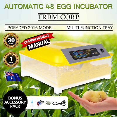 2017 48 Egg Incubator Fully Automatic Digital Poultry Birds Waterfowl Game Birds