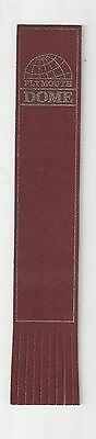 Plymouth Dome. Burgundy Leather English Bookmark.