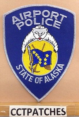 State Of Alaska Airport Police Shoulder Patch Ak