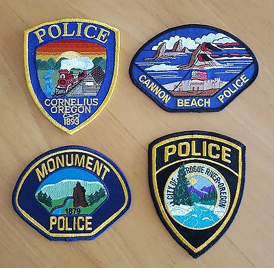 USA - 4 x Different Oregon Police Patches #1
