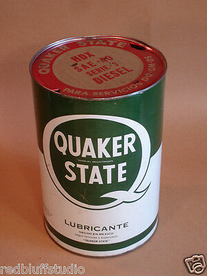 Quaker State Oil can Hecho en Mexico 5 Litros
