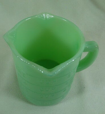 One Cup Measuring Cup Three Spouts Jadeite Glass Jadite Measure Pitcher